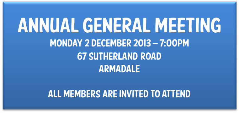 2013 AGM Announcment
